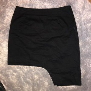 Zara Signature 8 Asymmetrical Black Skirt